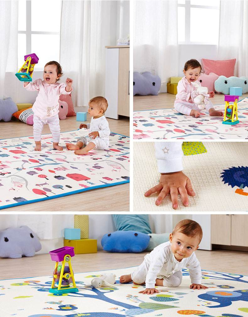 Baby Play Mat Stitching Style Lock Safety Material Practice Crawling for Baby 08g2