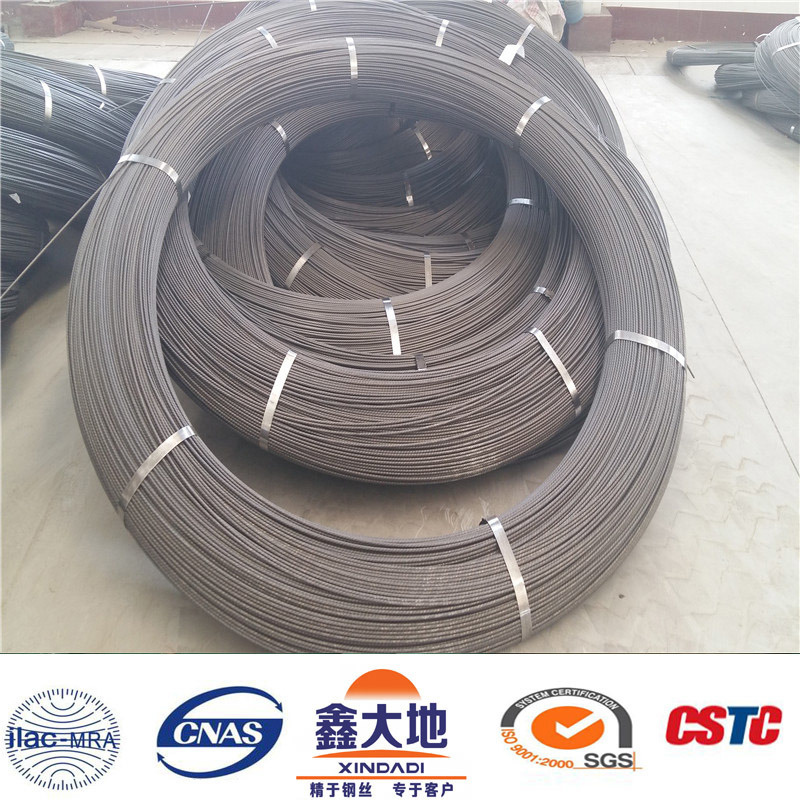 9.5mm 1570MPa Ribbed Low Relaxation High Tensile Prestressed Concrete Wire