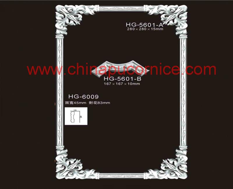 Polyurethane Elegant Corner for Interior Room Decoration