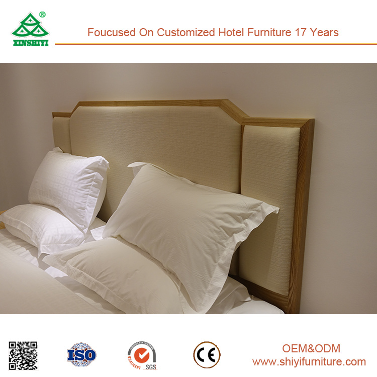 Customized Ash Wood King Size Bed for Hotel