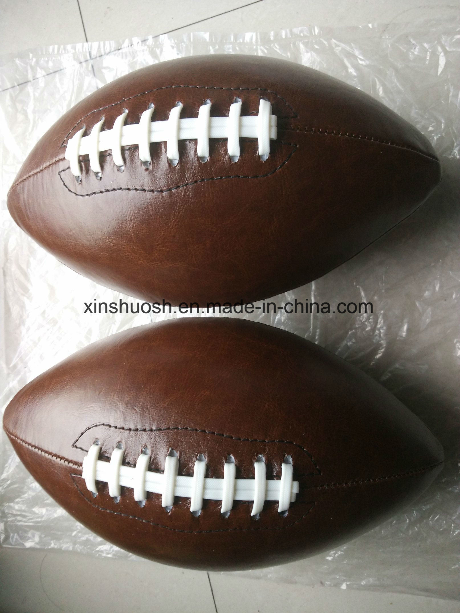 3# PVC Machine Stitching Brown American Football