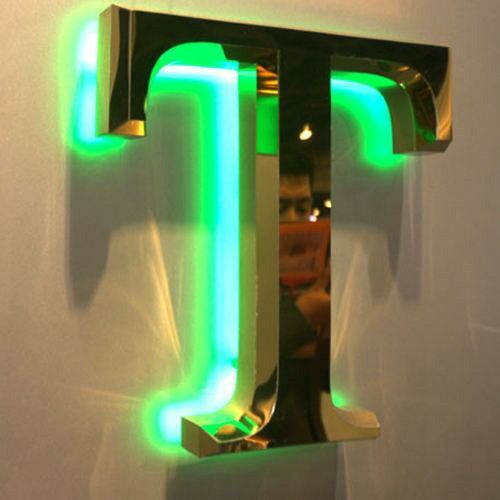 Advertising Customized Polished Brushed Vintage Metal Backlit Signage Letters LED 3D Illuminated Channel Letters Signs