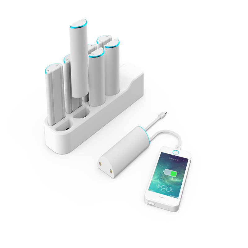 2017 New Business Power Bank 8 in 1 Mobile Phone Charging Station