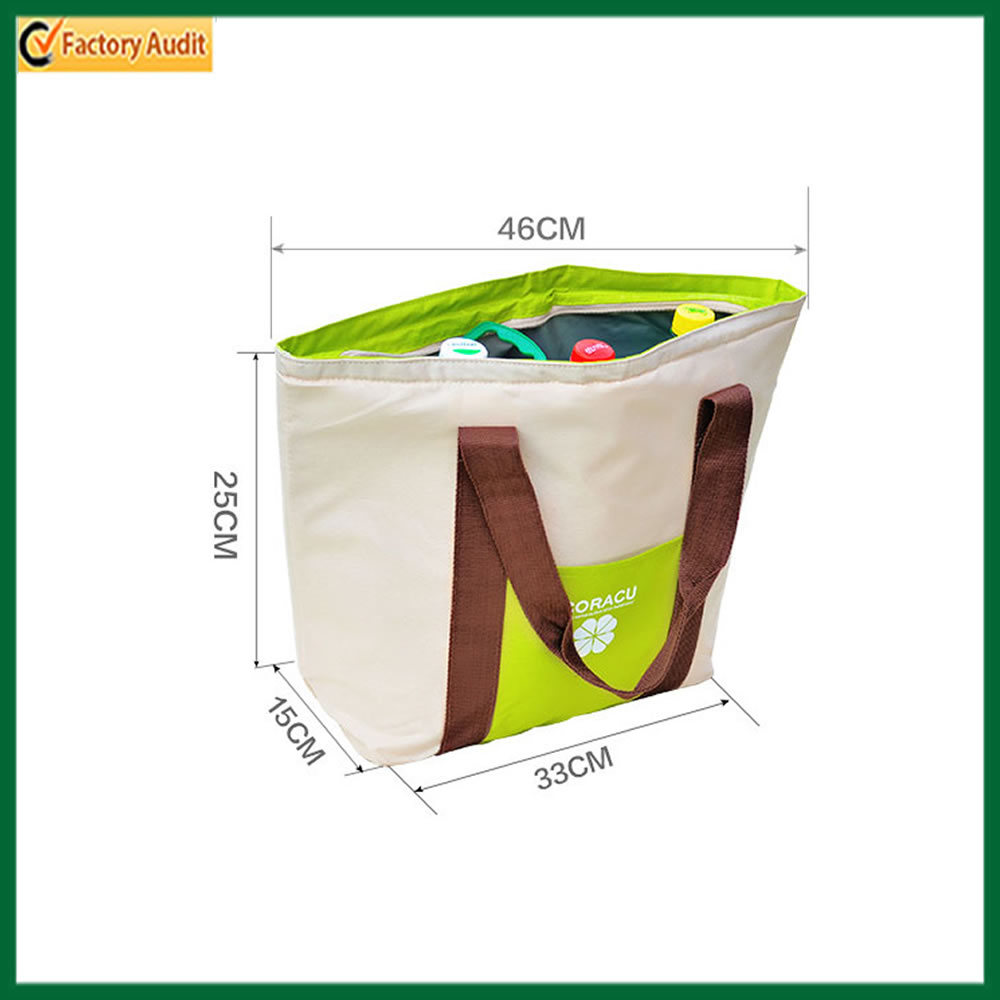 Fashion Canvas Tote Insulated Cooler Bags Shopping Cooler Bag (TP-CB381)