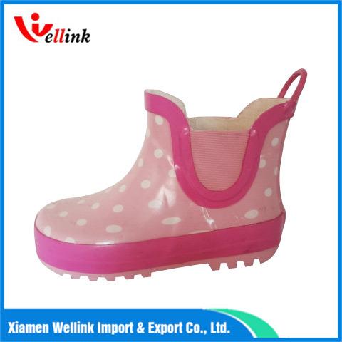 PVC Waterproof Fashion Kids Rain Boots