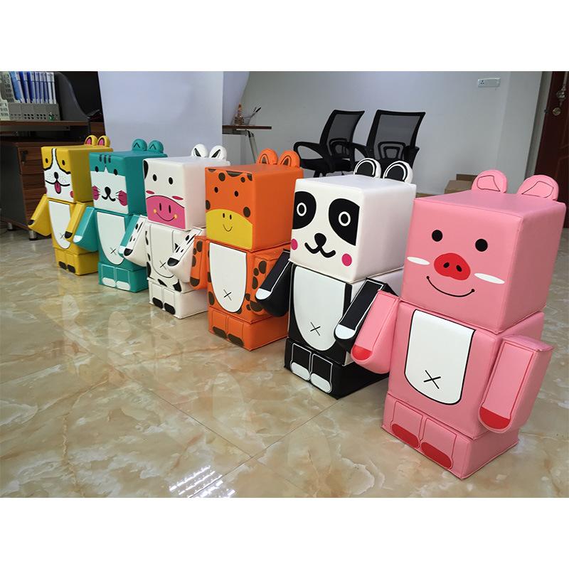 Children Building Blocks Kitten Style Building Blocks Toys