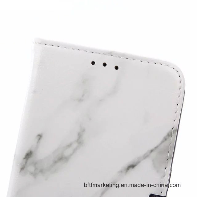 Marble Leather Wallet Cell Phone Case for Samsung S7/S7 Edge HTC LG All Series