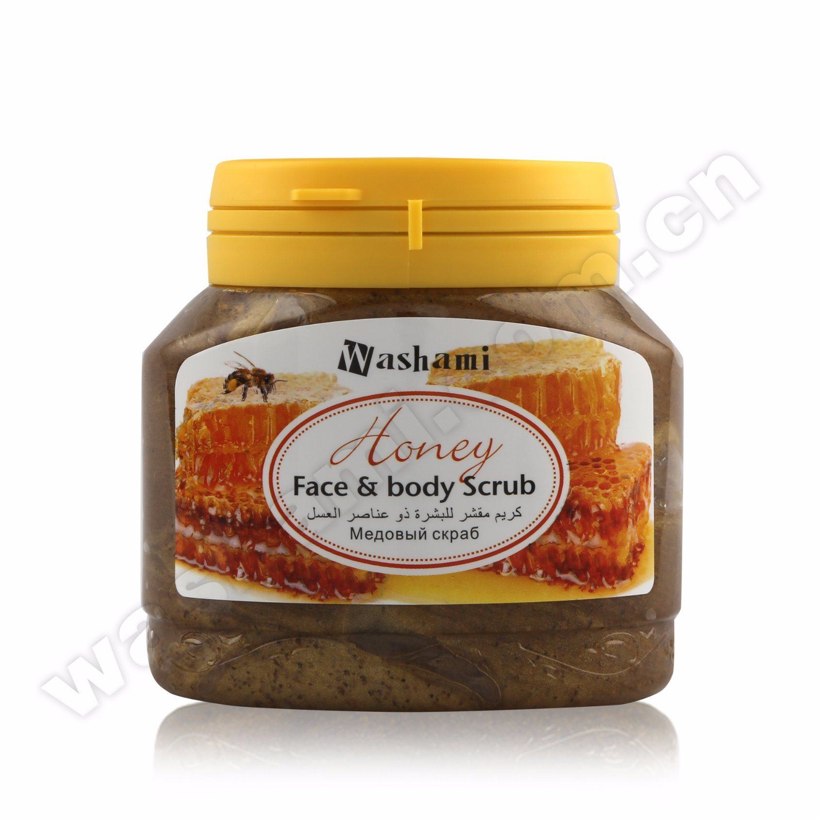 Washami Organic Natural Plant Essence Whitening Body Scrub with Pecan Shell Powder