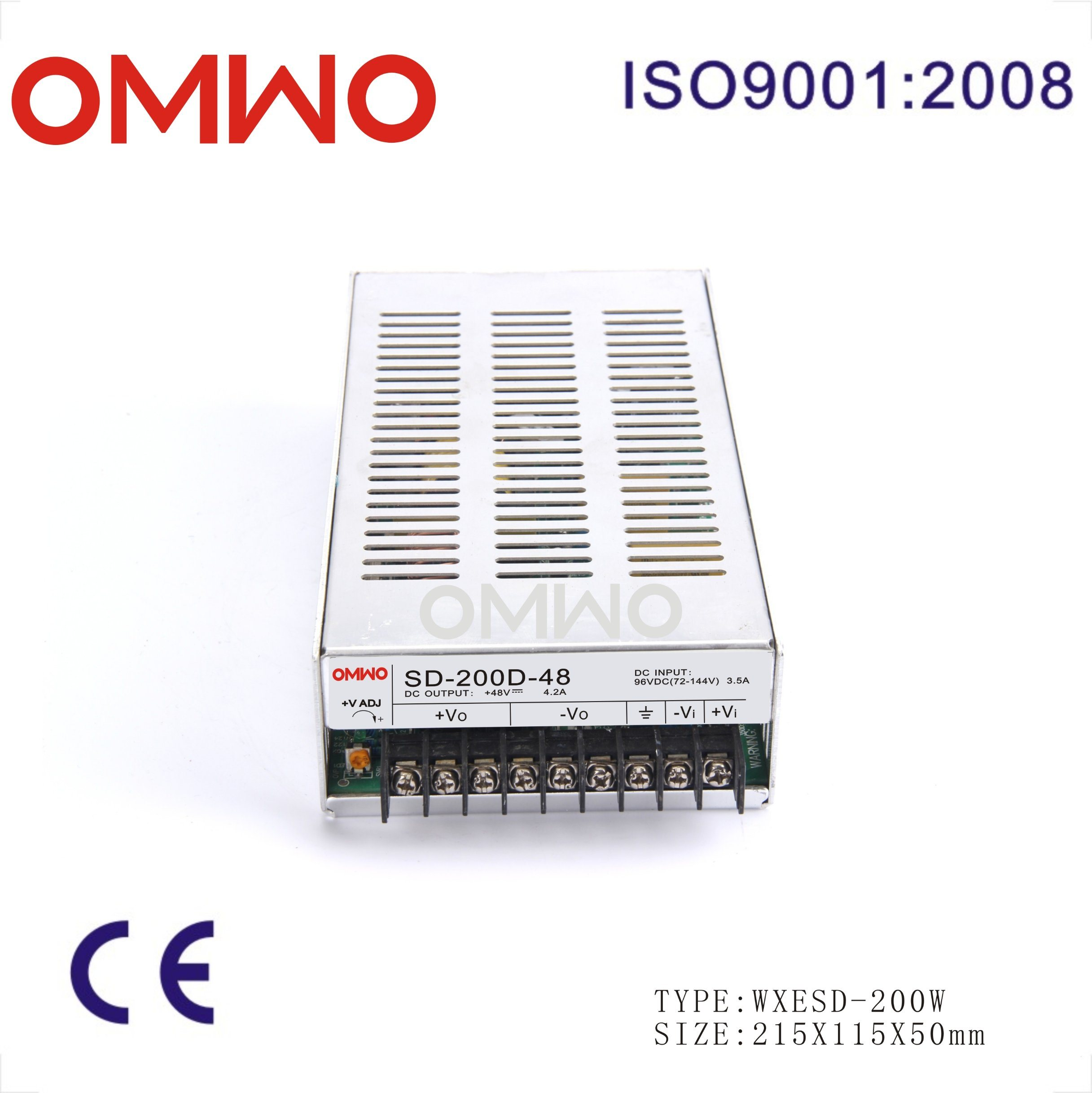200W Wxsd-200d-12 Single Output DC to DC Converter