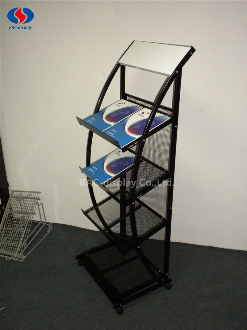 High Quality Metal Brochure Holder Magazine Rack for Office
