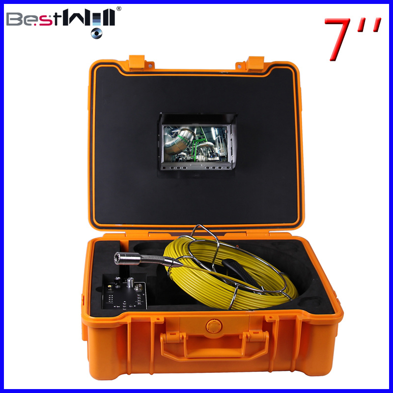 Waterproof Pipe Inspection Camera with 7′′ Digital Screen 7G