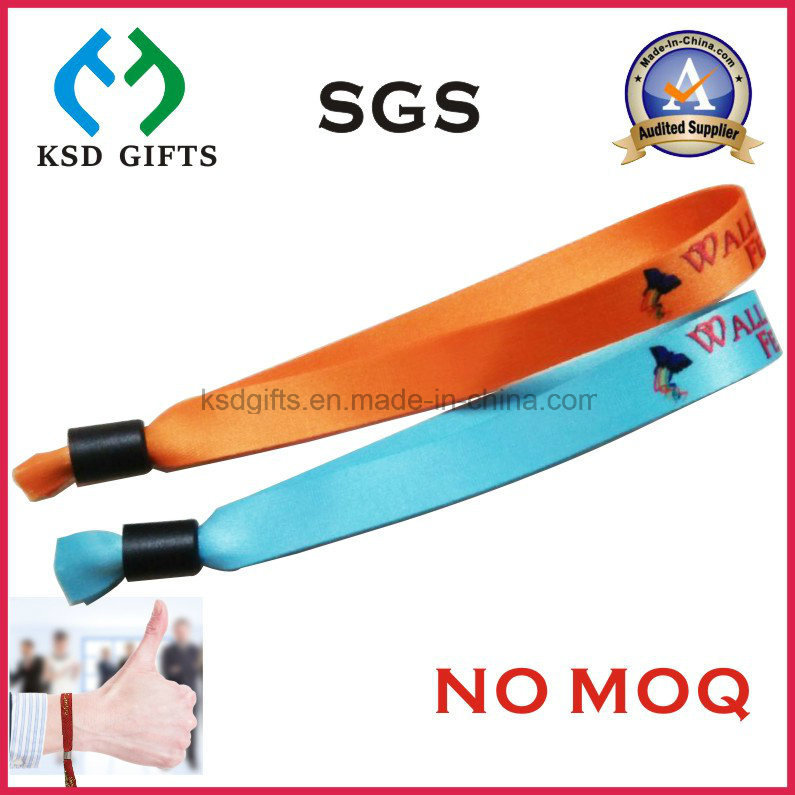 Custom Promotional Cheap Woven One Time Use Woven Wristband