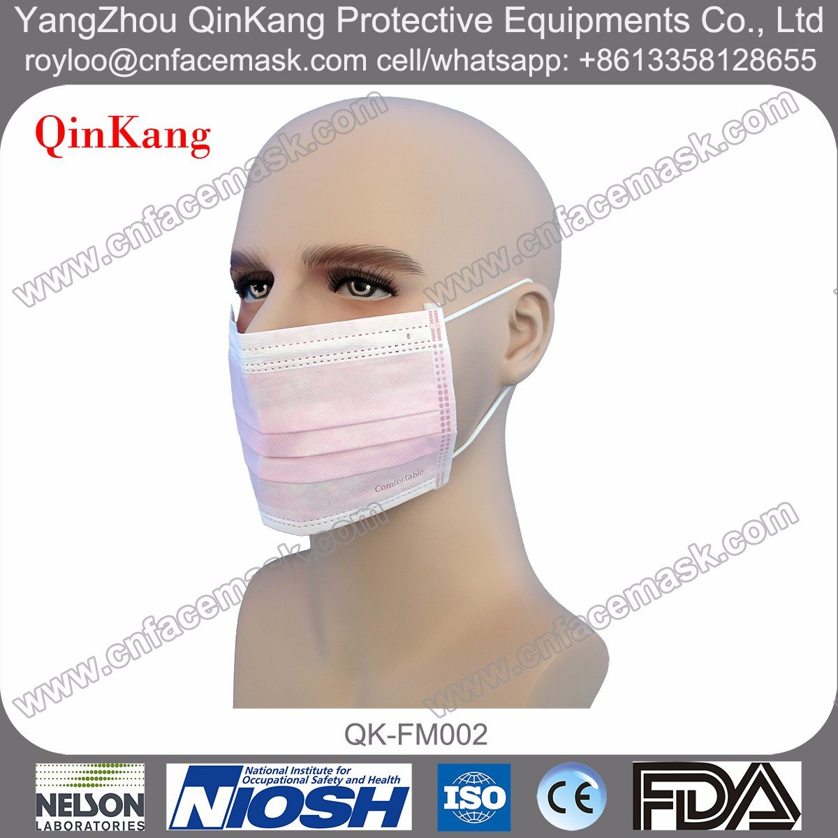 Disposable Medical Surgical Breathing Face Mask with Ce FDA Approved