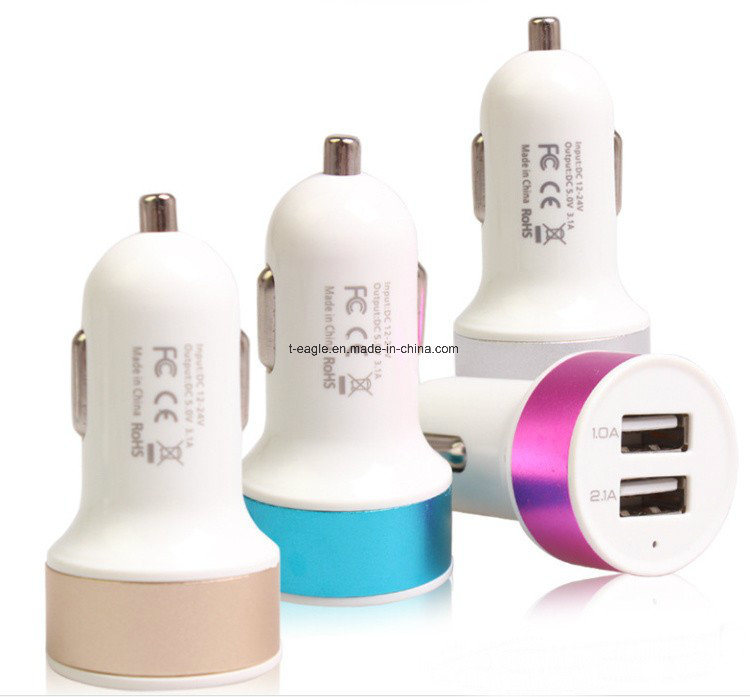 2 USB Car Battery Charger for Smartphone Dual USB Car Charger