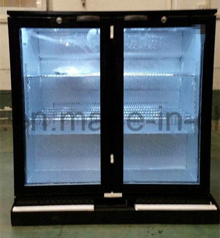 Two Doors Under Bar Cooler Commercial Refrigerator, Back Bar Cooler