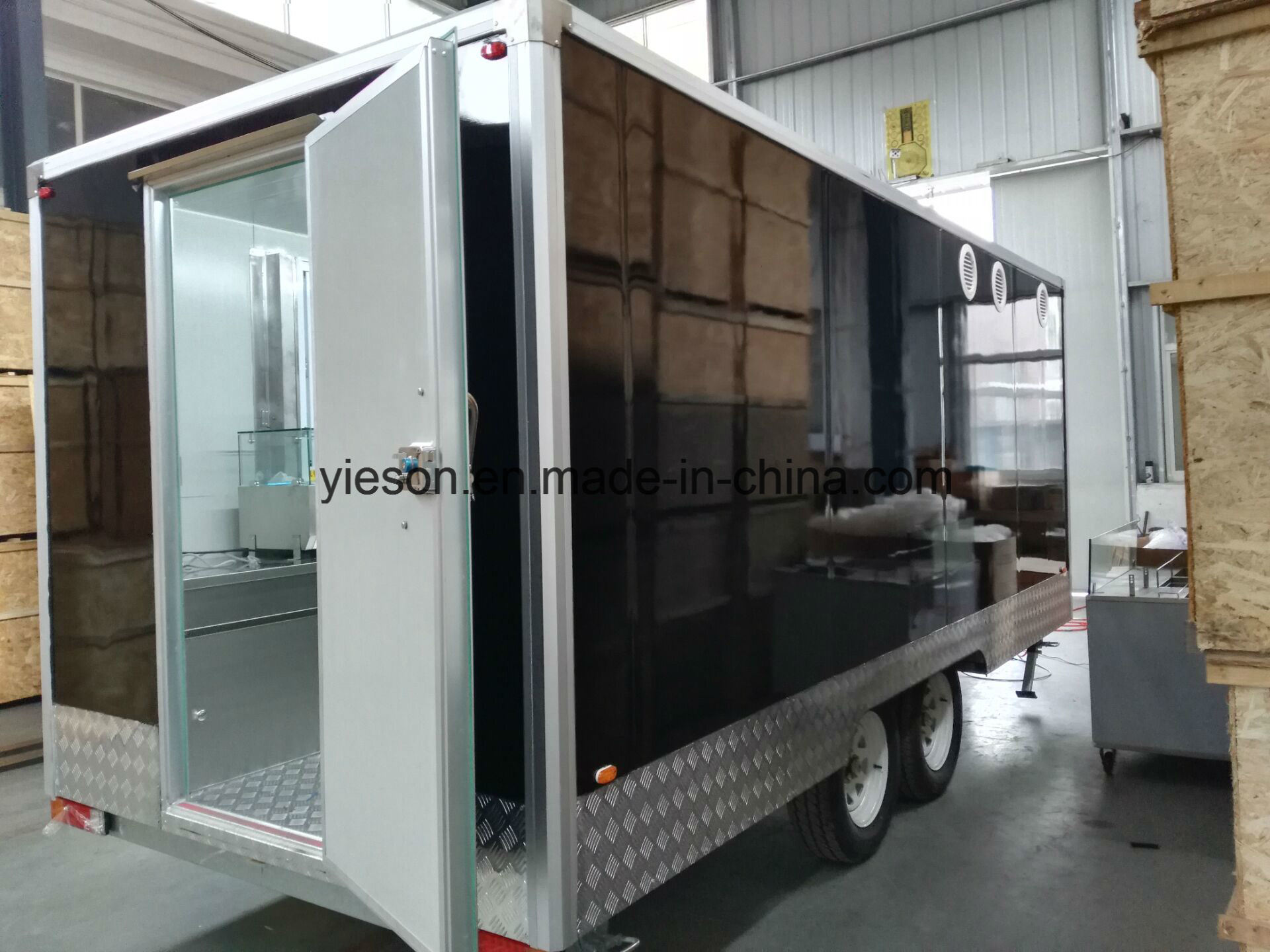 Sliding Glass Windows Mobile Kebab Van