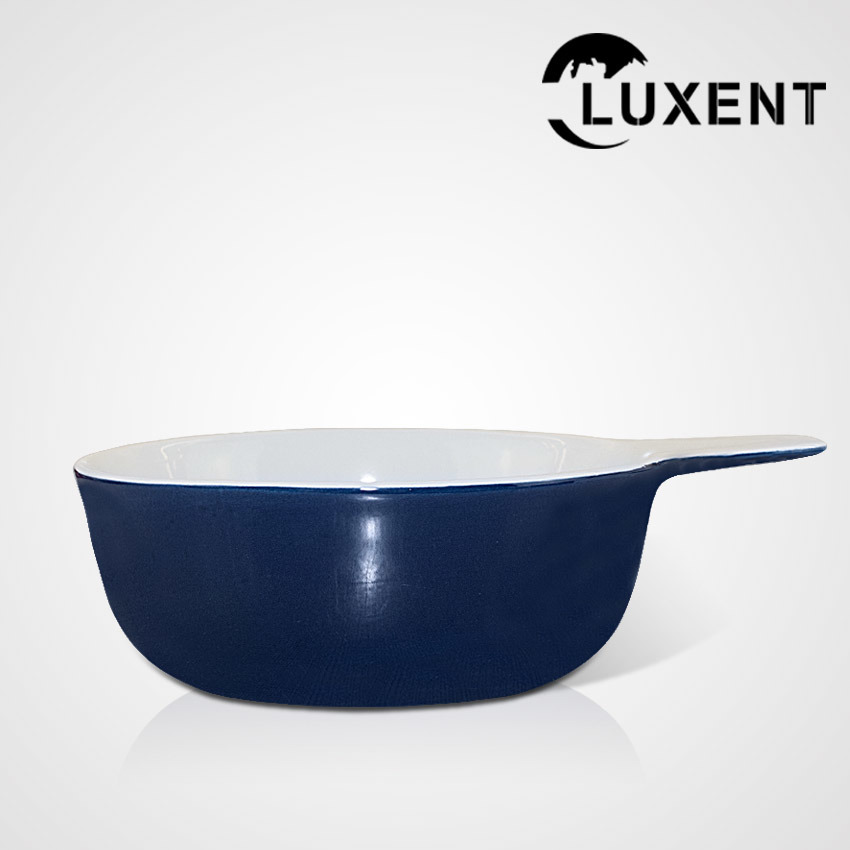 New Arrival Ceramic Meal Color Round Cake Bowl with Ear