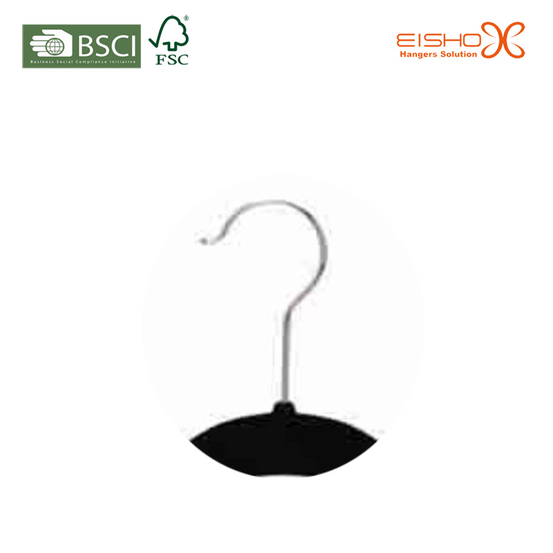Space Saving Non-Slip Black Velvet Clothes Hanger for Closet (TSCY0014)