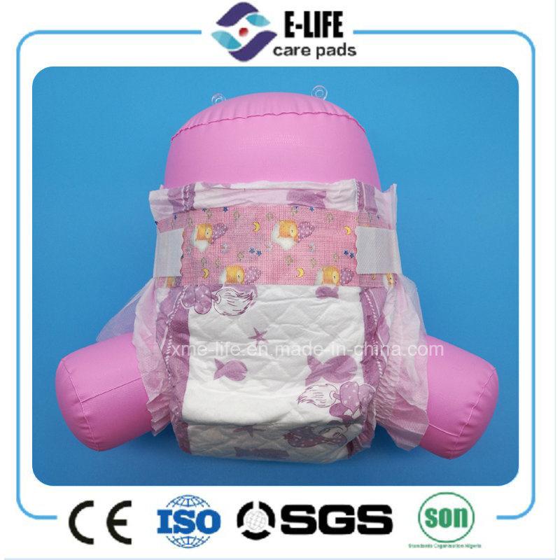 OEM Disposable Elastic Waist Baby Diaper with Magic Tape