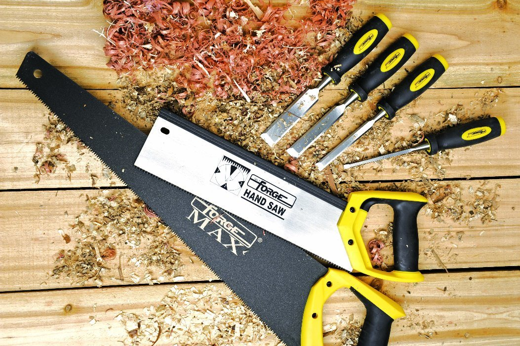 """8tpi 65mn Steel 26"""" Hand Saw with Cushion Grip for Woodworking"""