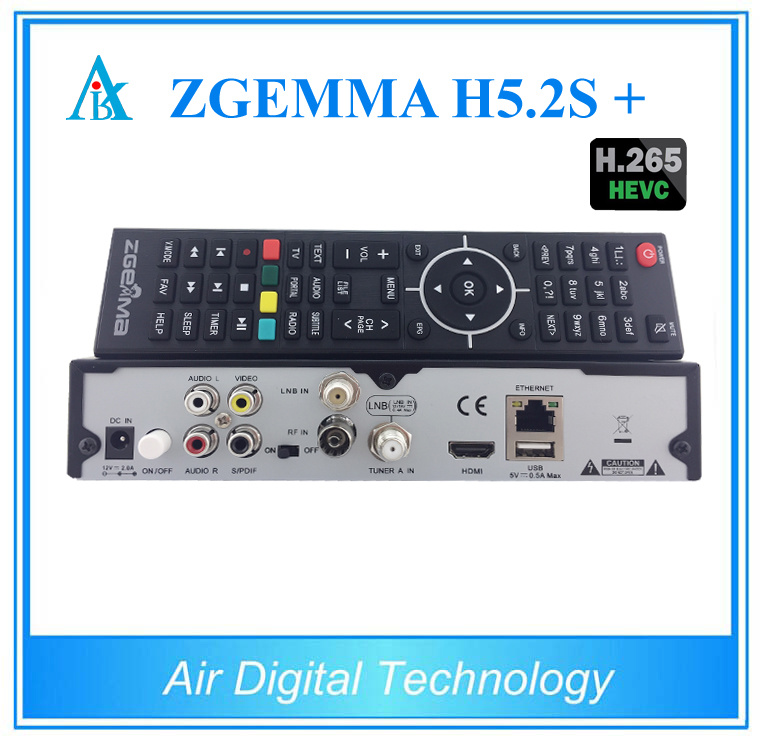 Hevc H. 265 Zgemma H5.2s Plus DVB-S2+DVB-S2X/T2/C Satellite TV Receiver Multistream Zgemma H5.2s+ Set Top Box