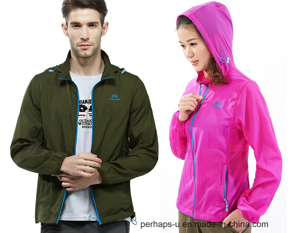 Quick-Drying Mens and Womens Skin Jacket with Anti-UV Material