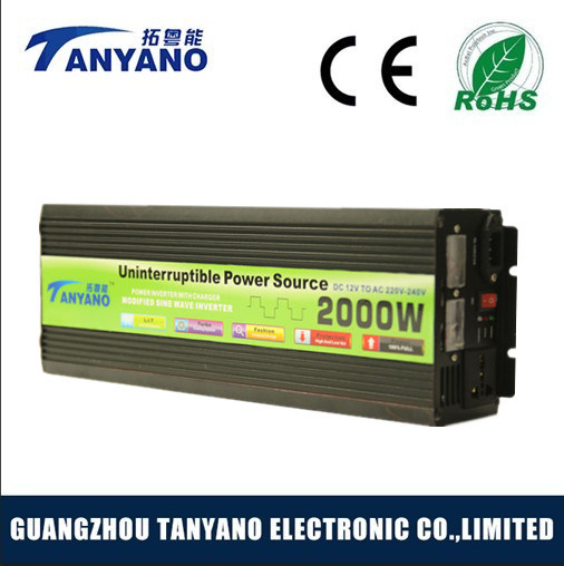 2016 New 2000W UPS Power Inverter with Battery Charger