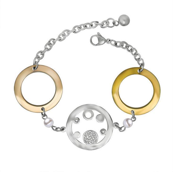 Crystal Women Bracelets Star Fashion Stainless Jewelry