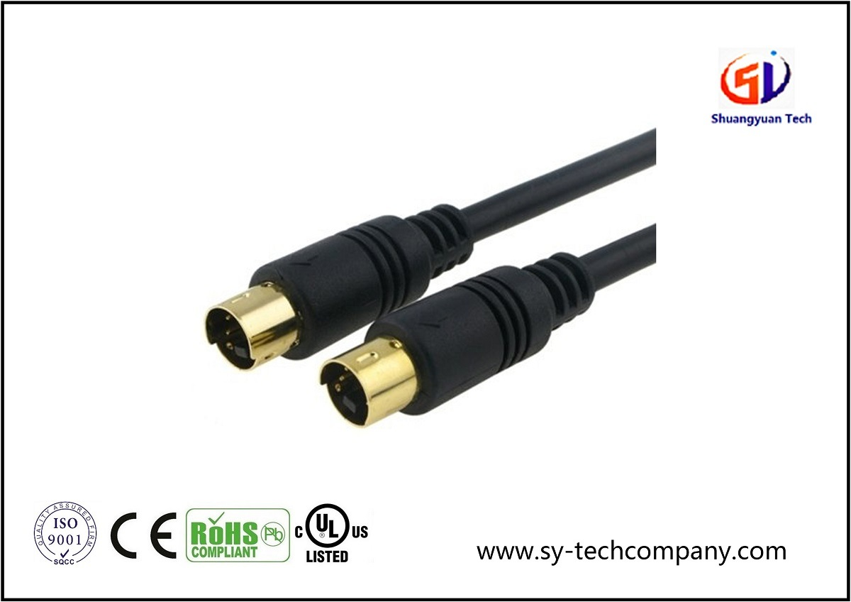 Gold 6FT S-Video Cable for TV/HDTV/DVD/VCR/Camcorder