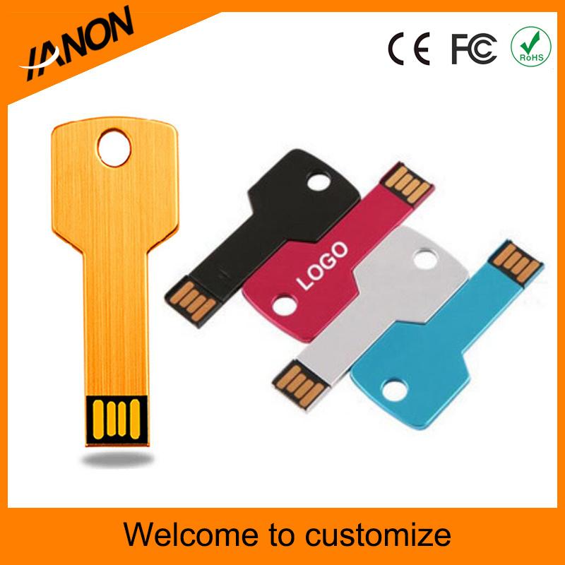 Colorful Key Shape USB Flash Drive with Printing Logo