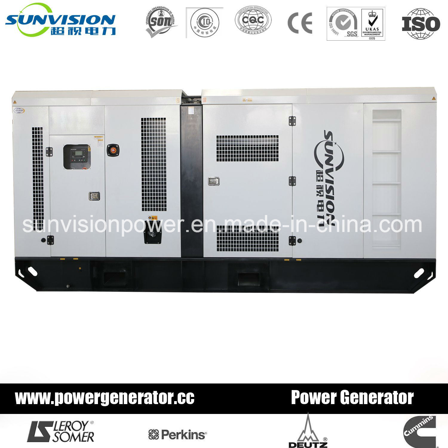 450kVA Perkins Diesel Generator Set with Industrial Enclosure