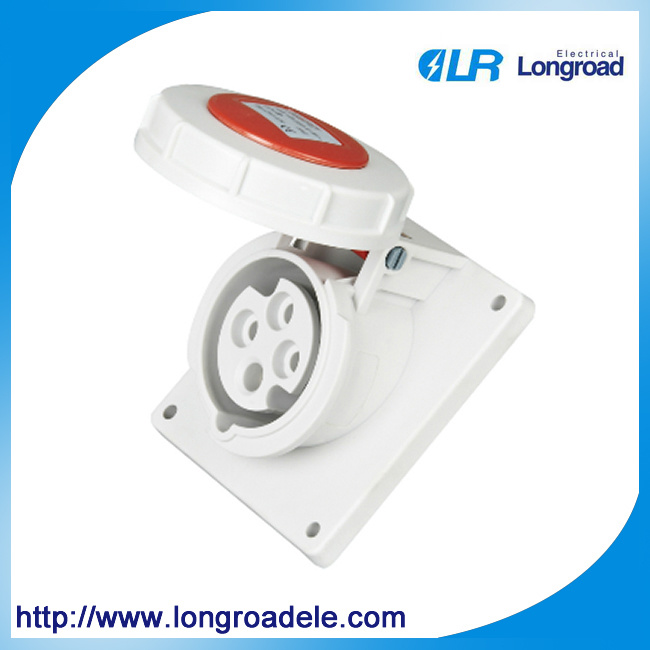 4p 16A IP67 Industrial Socket/Plug, Concealed Installation