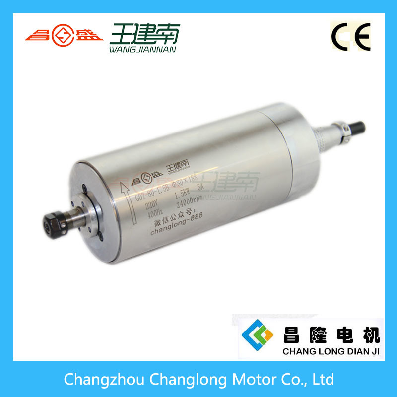 Manufactre 1.5kw Water Cooled High Speed Three Phase Asynchronous Spindle Motor for Wood Carving CNC Router