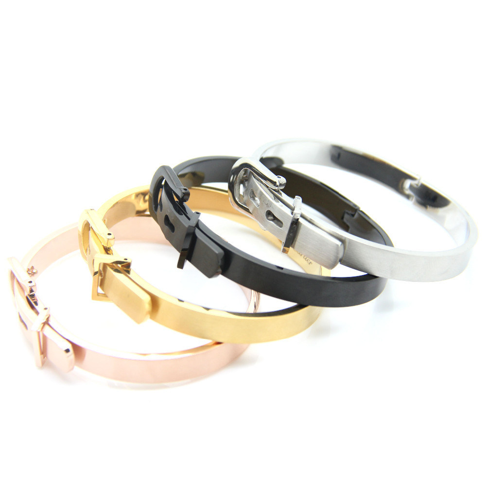 316L Belt Buckle Cuff Bracelet