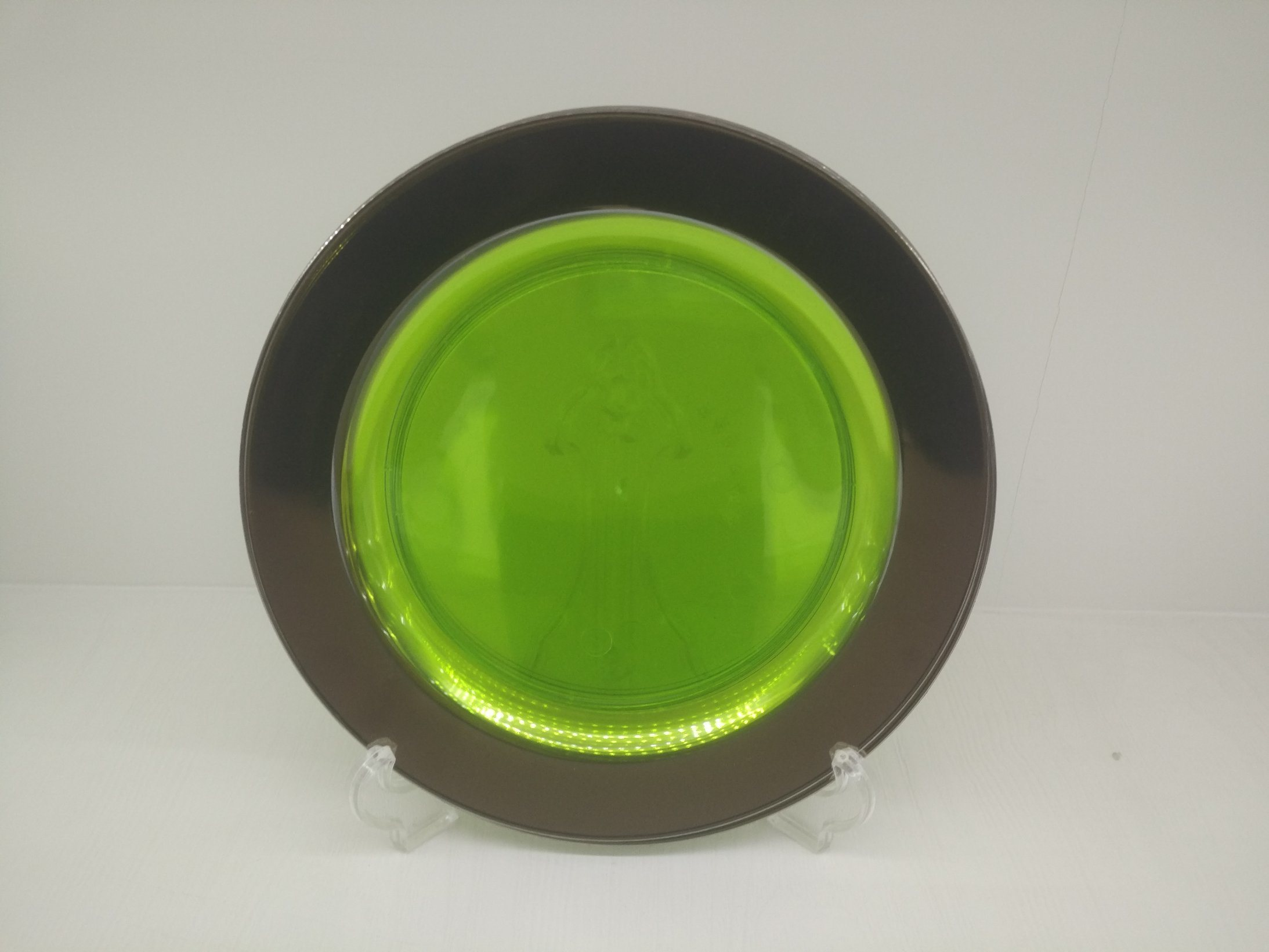 Plastic Plate, Disposable, Tableware, Tray, Dish, Colorful, PS, SGS, Silver Rim Plate, PA-01