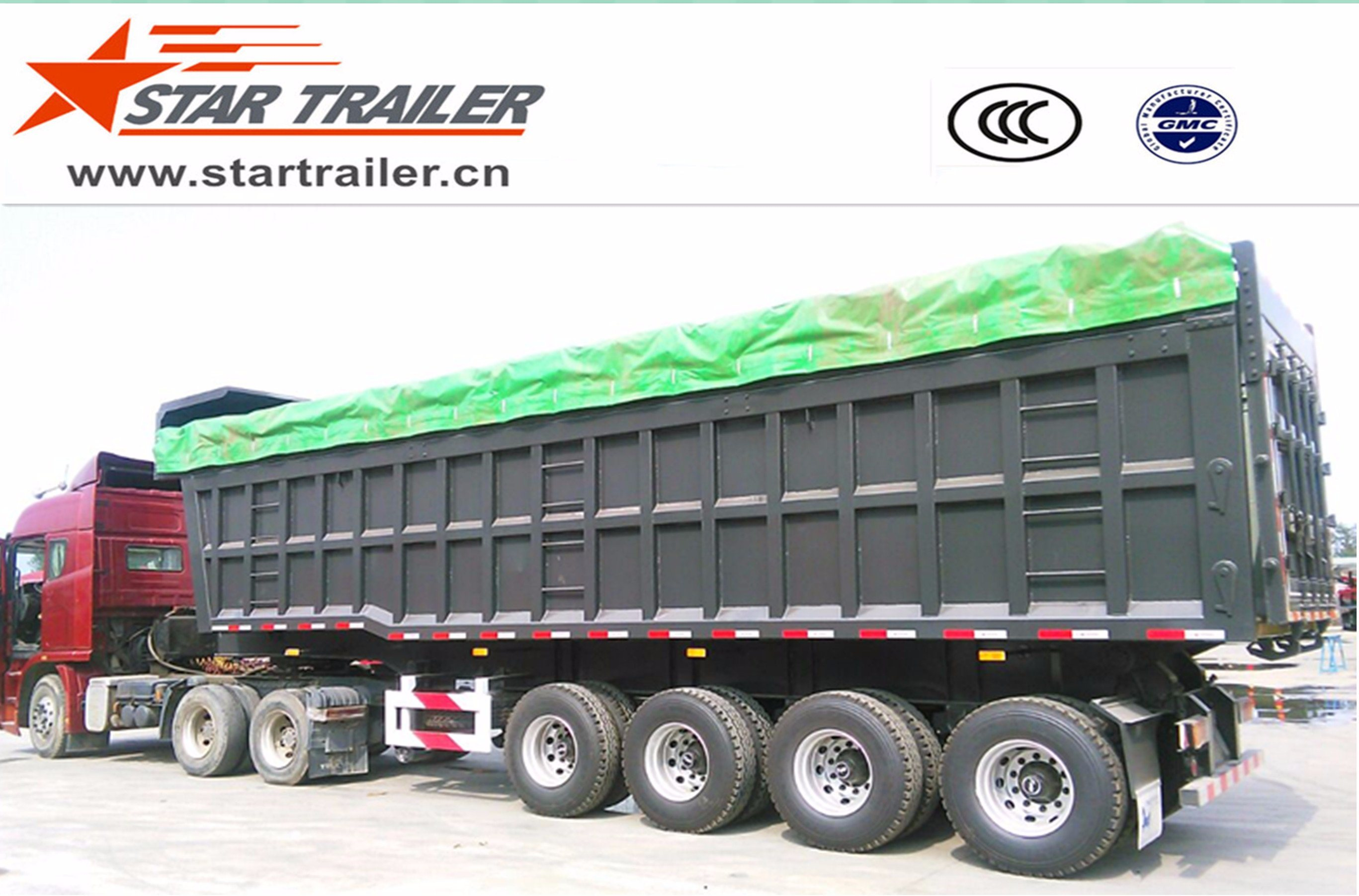 4 Axles Self-Dumping Tipper Semi-Trailer