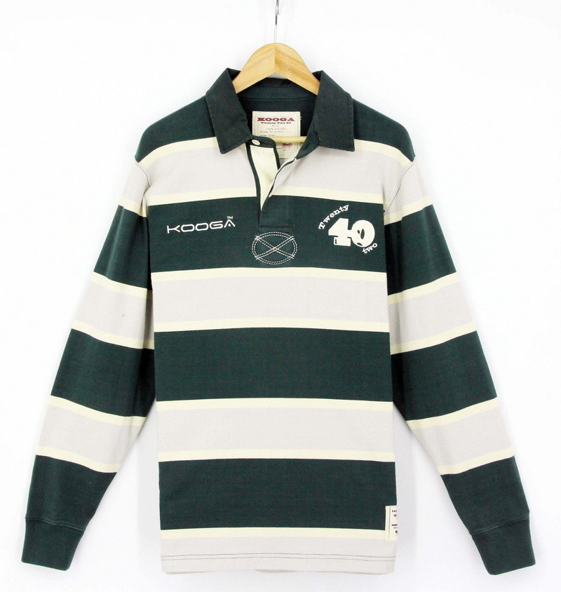 2017 Men Cotton Stripe Fashion Rugby Long Sleeve Woven Collar Heavy Polo Shirts T-Shirts Garments (S8001)