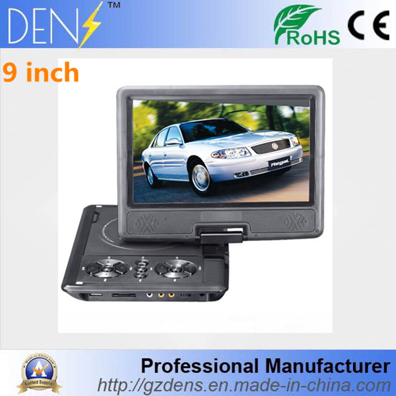 9 Inch Portable Swivel Screen DVD Evd Player