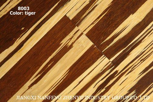 China Tiger Stripe Strand Woven Bamboo Flooring 8003