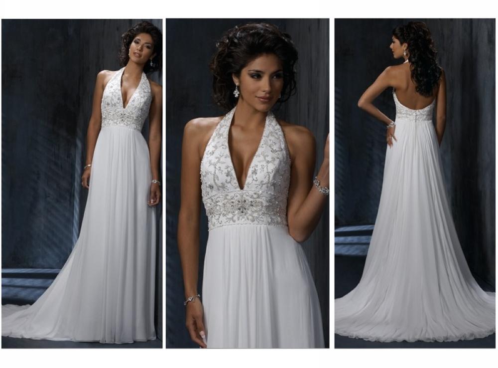 China Halter Beading Chiffon Bridal Gown 2012 (62915
