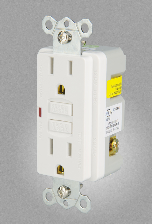 Groundfault Circuit Interrupter Protects From Electric Shock Gfci