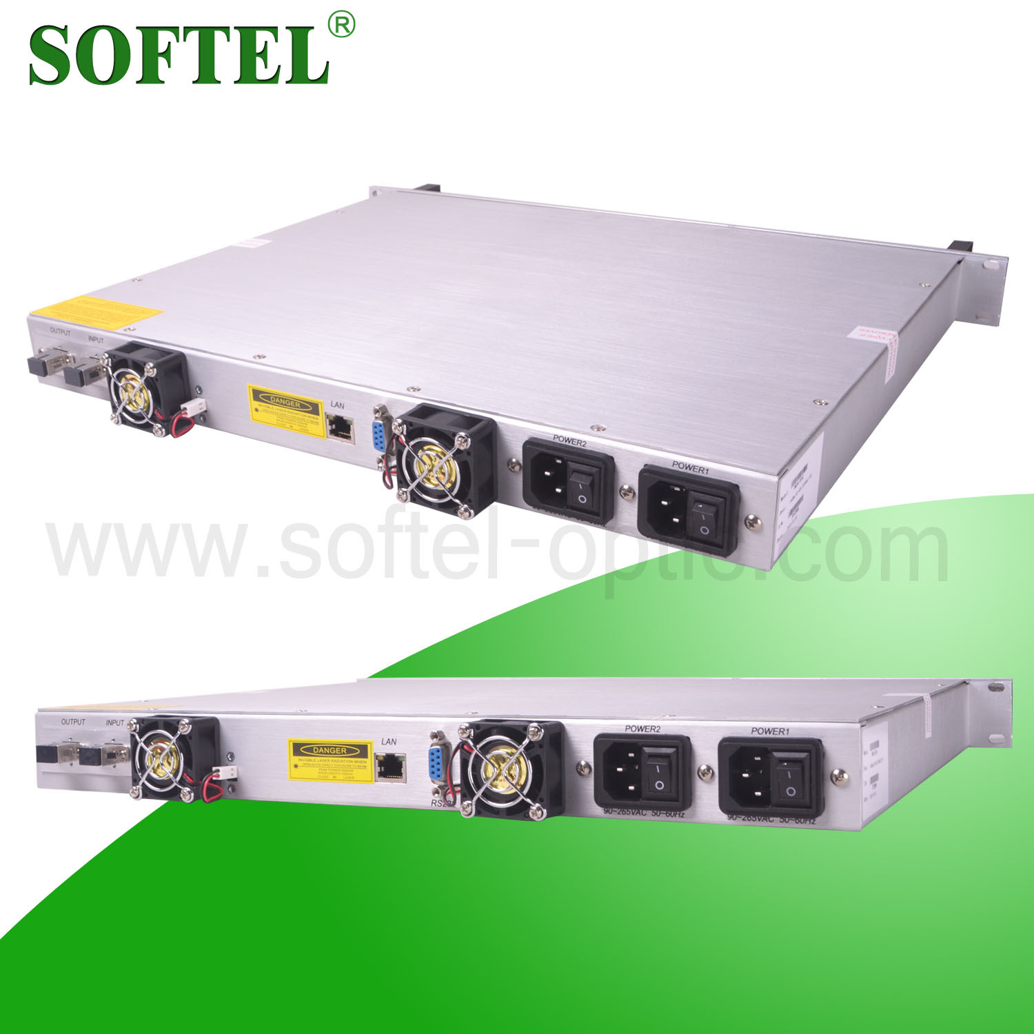 2014 1550nm 24dB EDFA Fiber Optical Signal Amplifier with Dfb Laser, RJ45 and RS232 Port