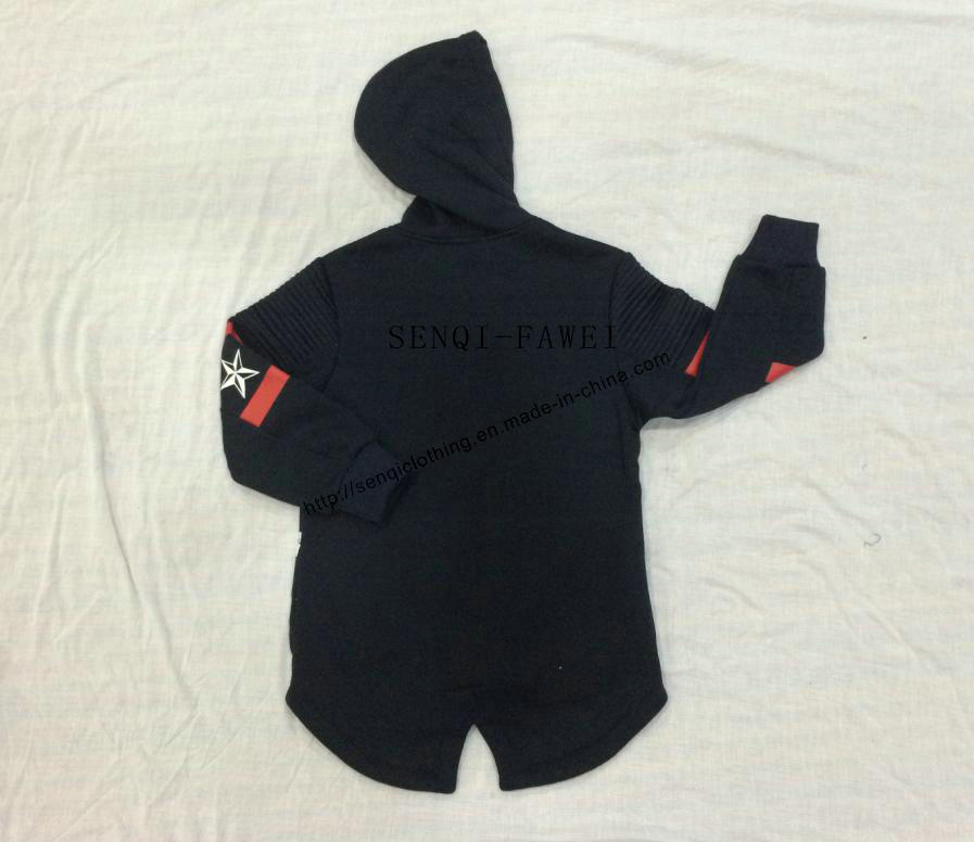 Boy Children Longline Sport Hoodies Clothes Sq-6708