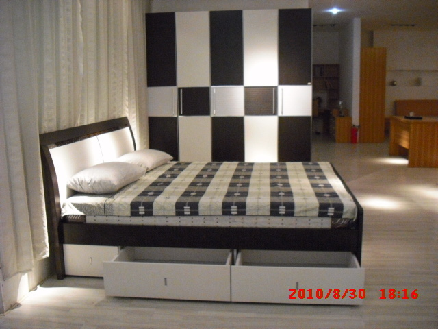 Attractive modern mdf bedroom with drawer 8839 china bedroom