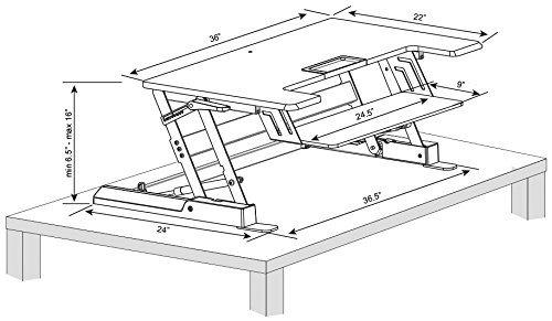 Ergonomic Computer Sit Stand Desk/Standing Desk (JN-LD02-A1)