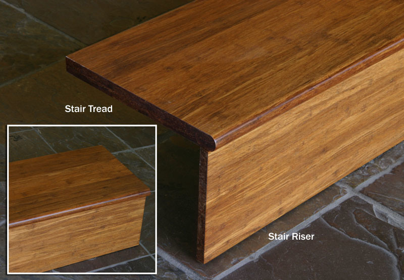 China Carbonized Strand Woven Bamboo Stair Tread And Riser