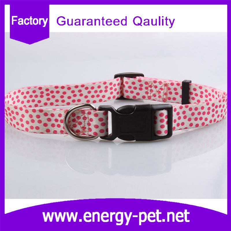 Fashion Dots Prints Pet Supply Dog Collars