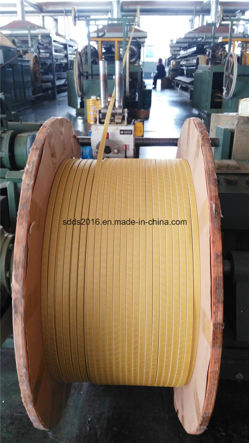 Glass-Fiber Covered Aluminium Magnet Wire 3.35*7.5mm
