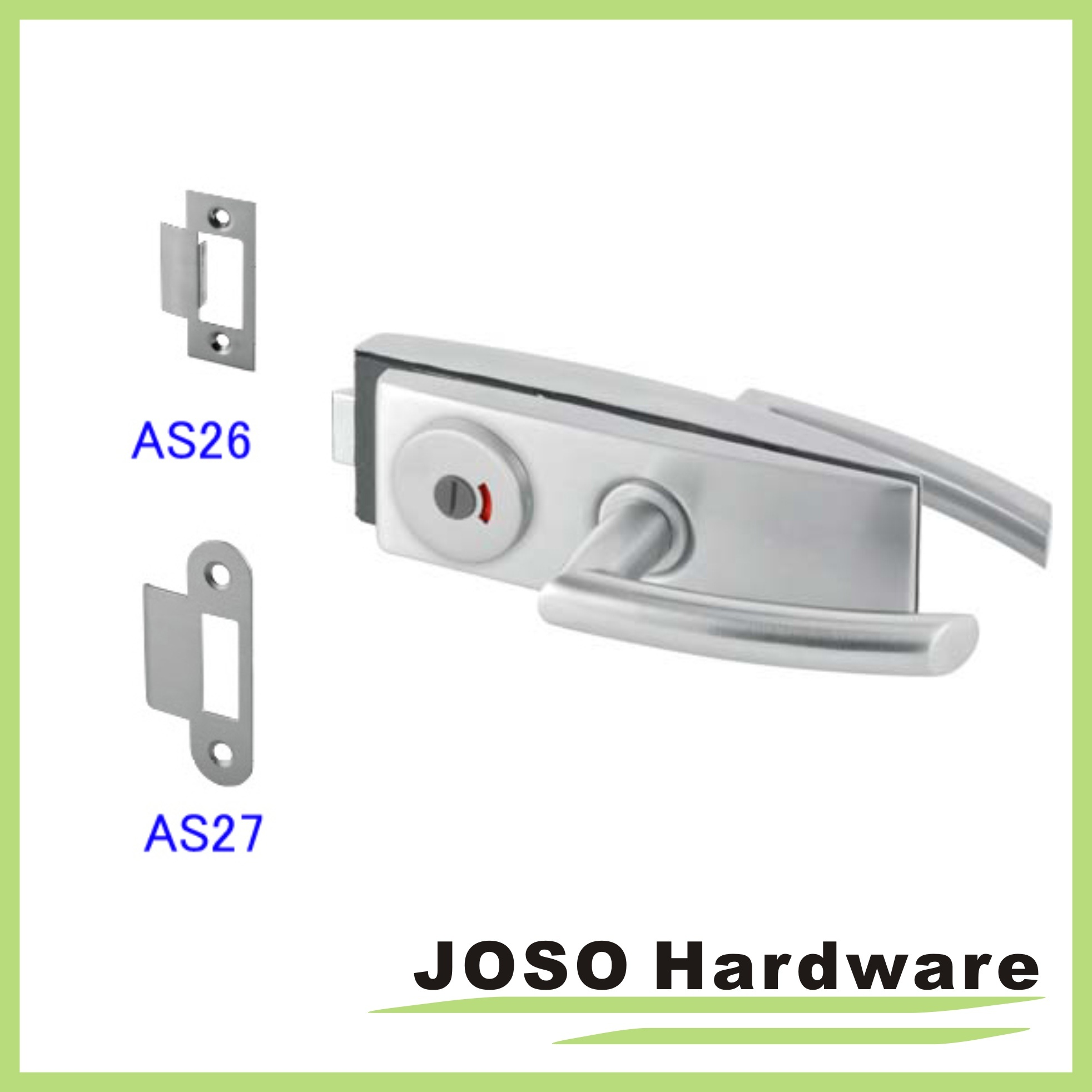 Bathroom Glass Handle Door Lock (GDL020C-1)
