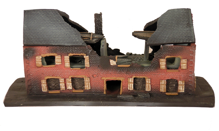 China Polyresin 3d Games Village House Miniature Building
